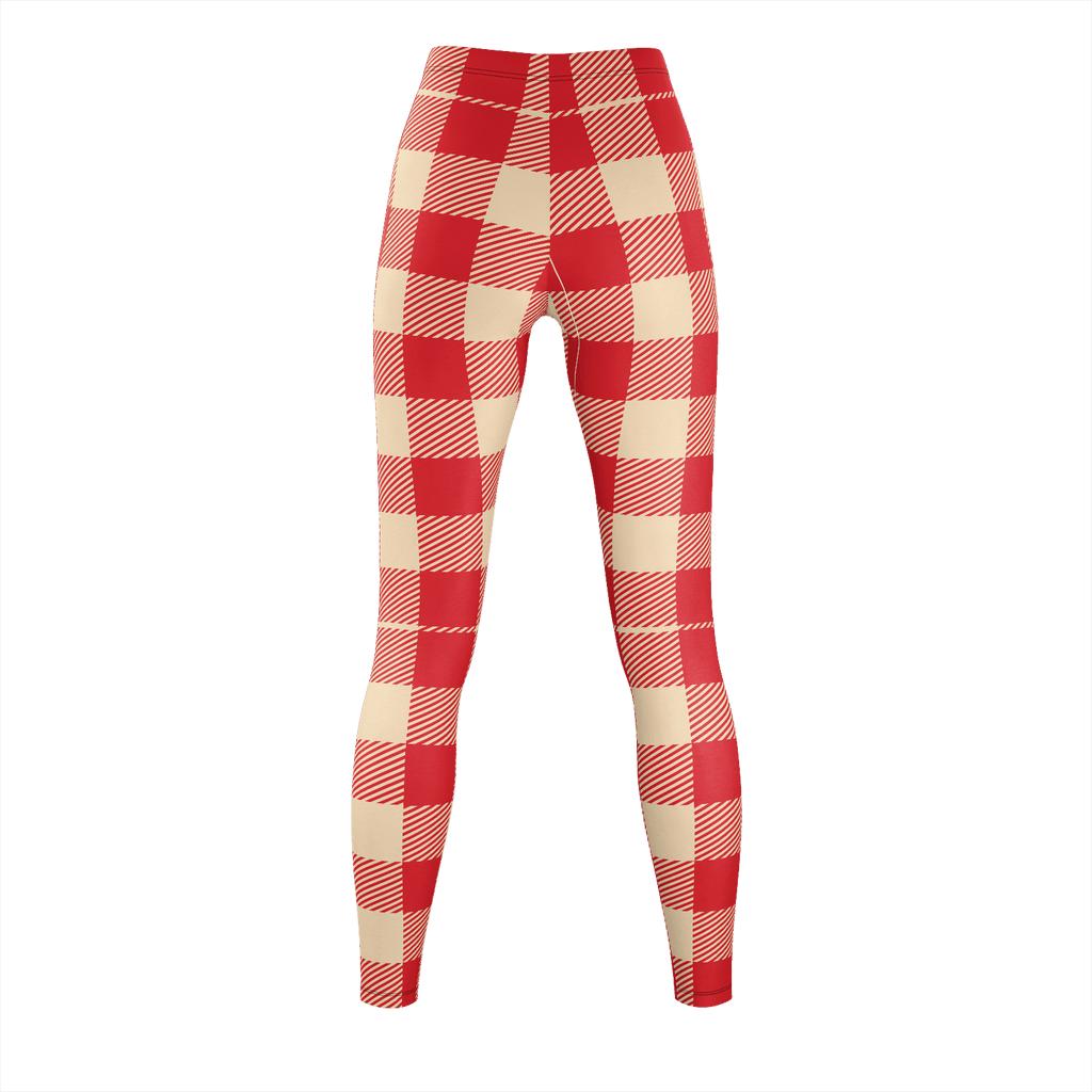 Red And Tan Flannel Pattern
