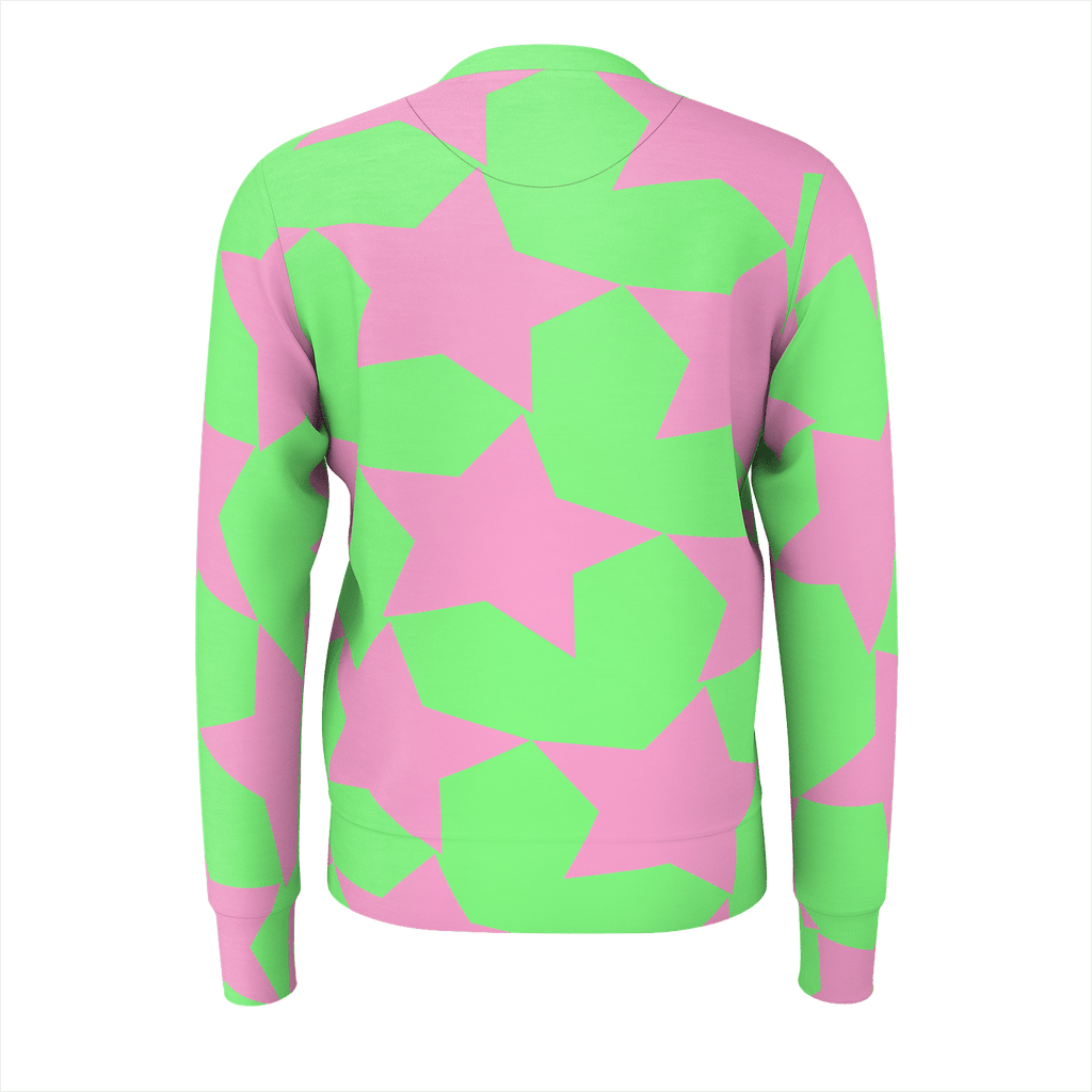 Beach Air Classy Pink on Green Men's Sweatshirt
