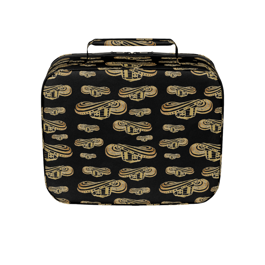 Sombrero Vueltiao in Gold Leaf with Black Background - Lunch Box