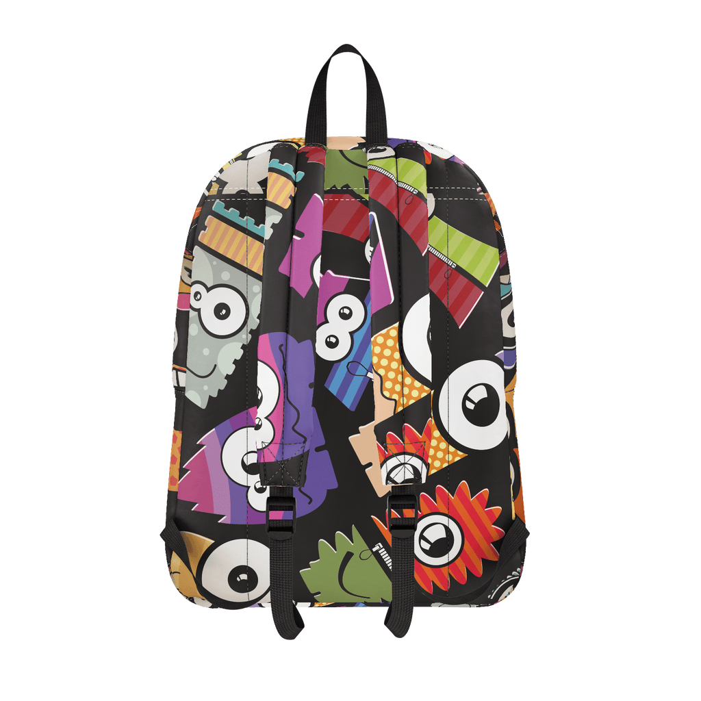 School Bus Aliens BackPack Design 1