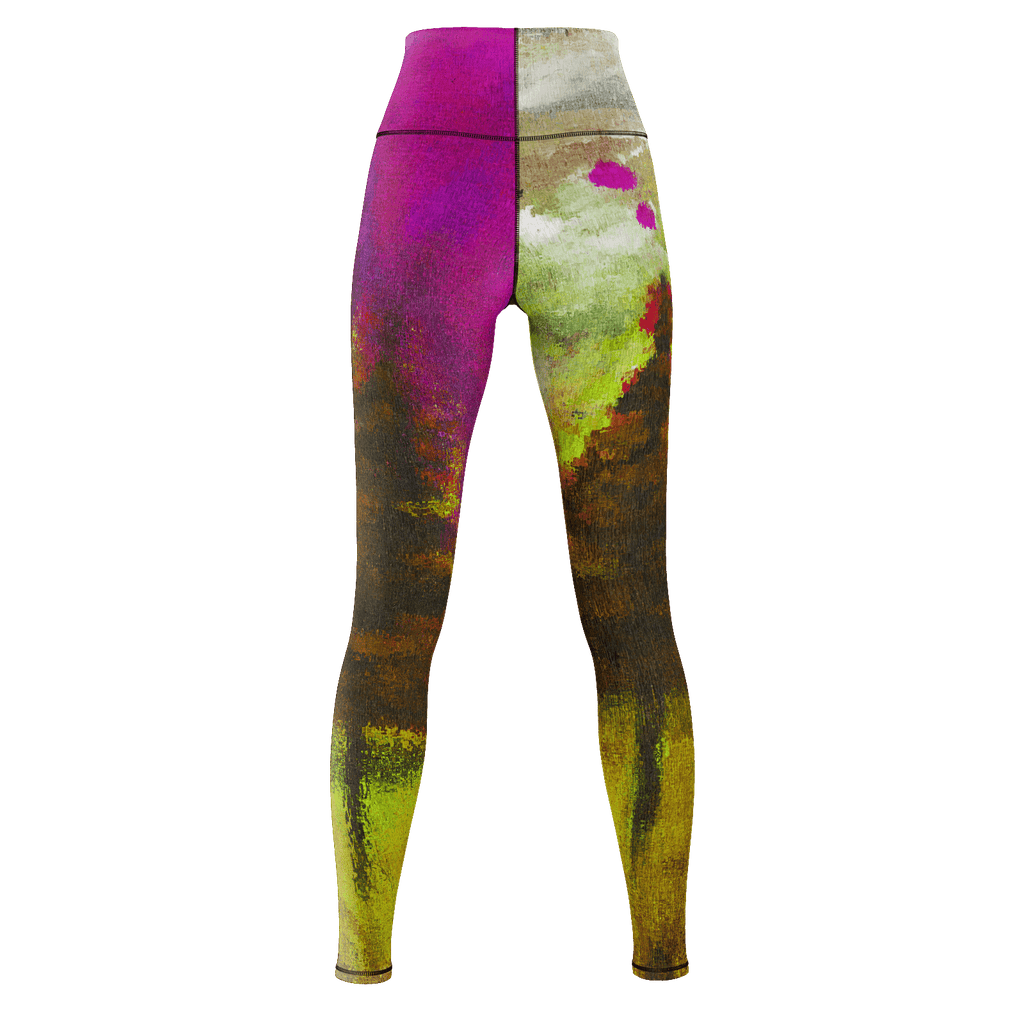 Yellow Forest Yoga Pants