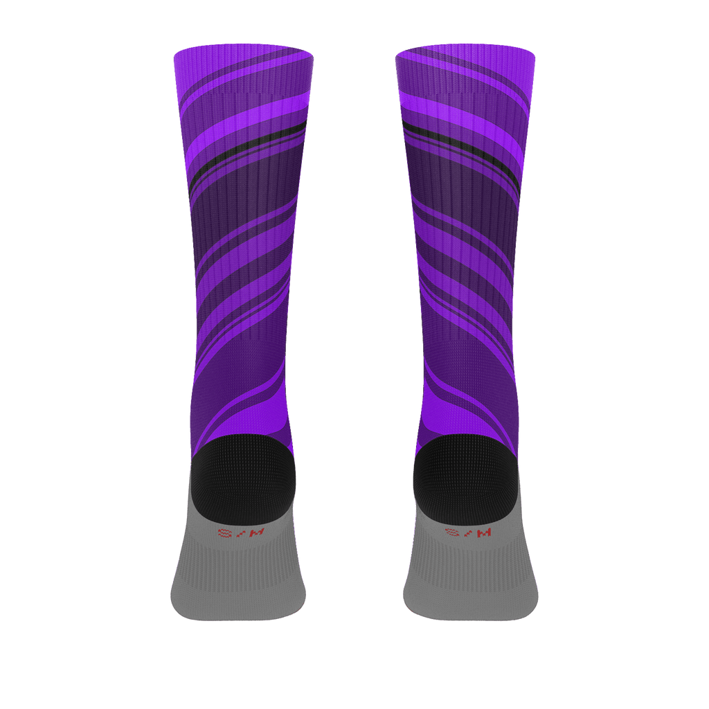 Black/Purple Diagonal Striped Socks