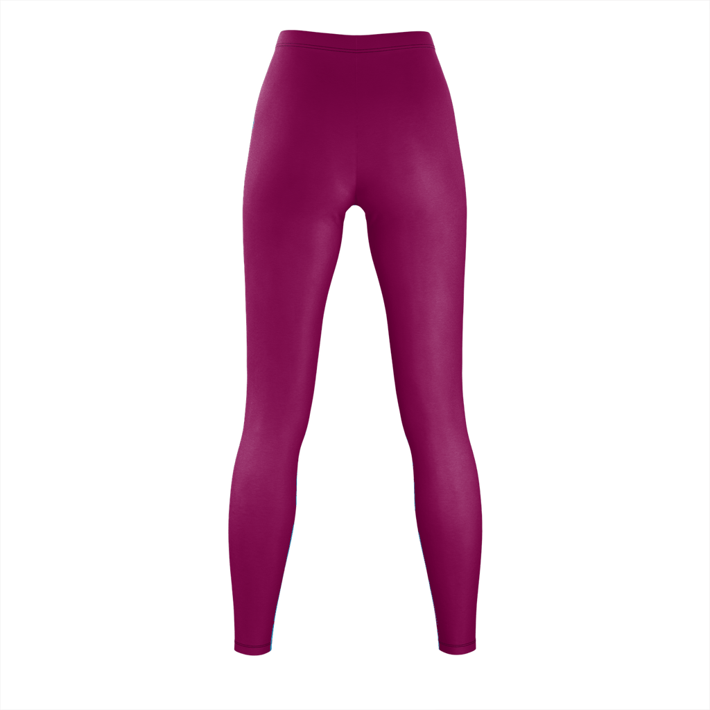 2XL Leggings: Maroon, synthetic fabric