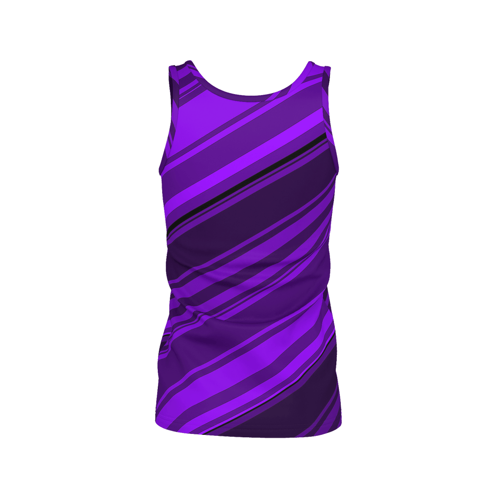 Black/Purple Diagonal Striped Women's SJ Tank Top