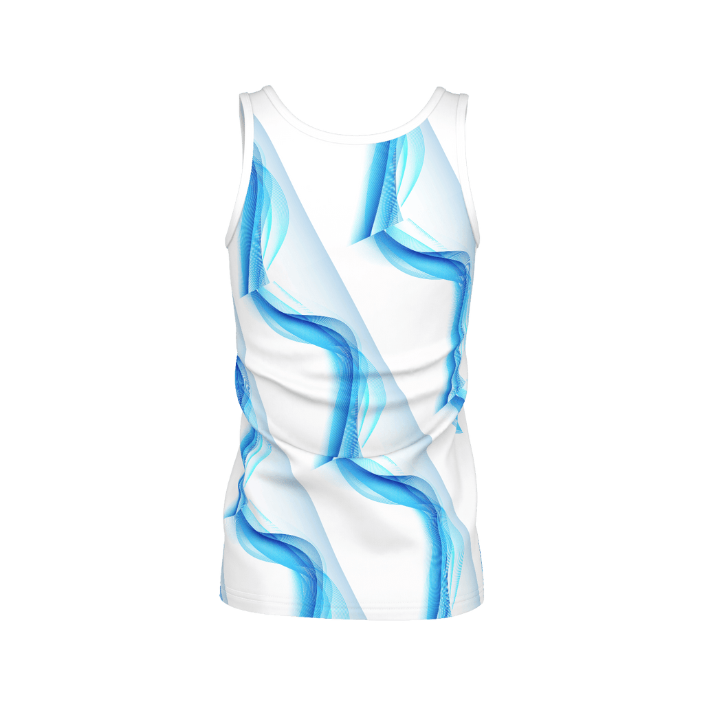 Blue Abstract Tank