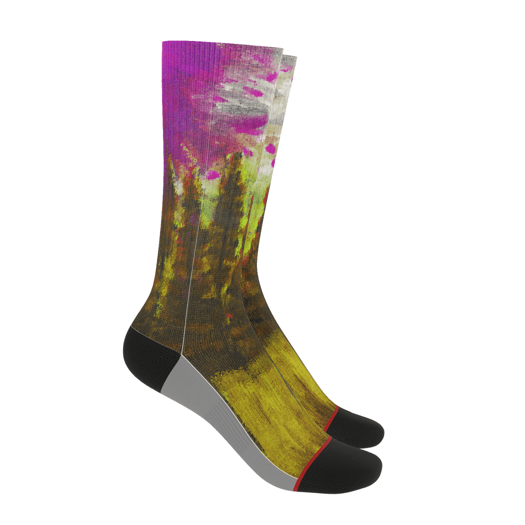 Yellow Forest Socks