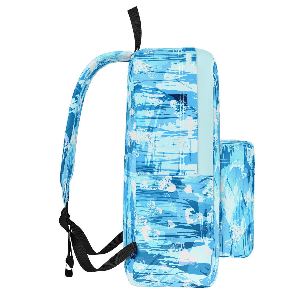 Blue Grunge Love Backpack
