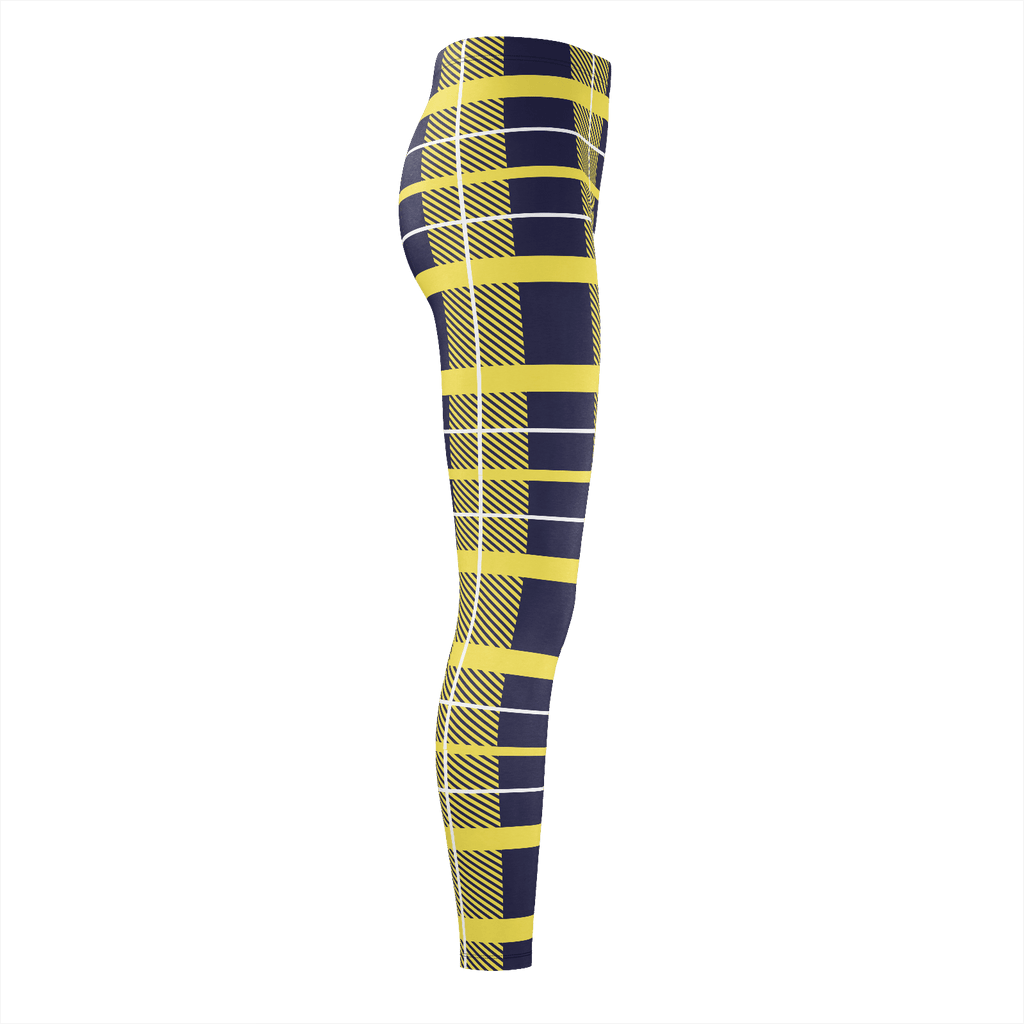 Yellow And Navy Flannel Pattern