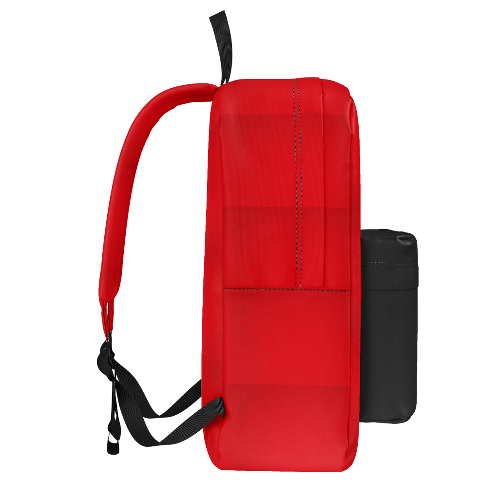 red and black backpack