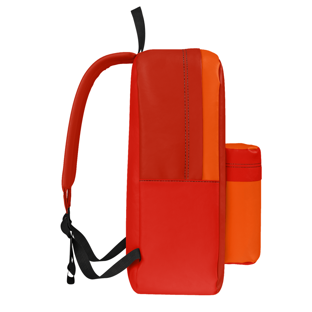 Orange and Two Red Design Rucksack
