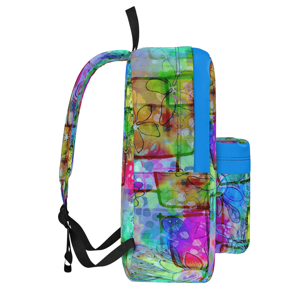 Rainbow Floral Doodle Backpack