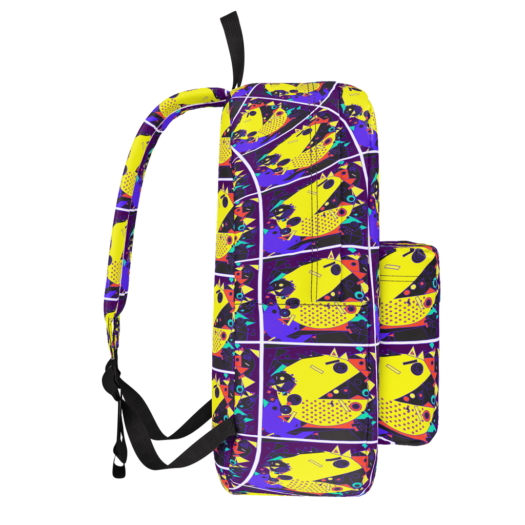 School Bus Aliens Backpack 3
