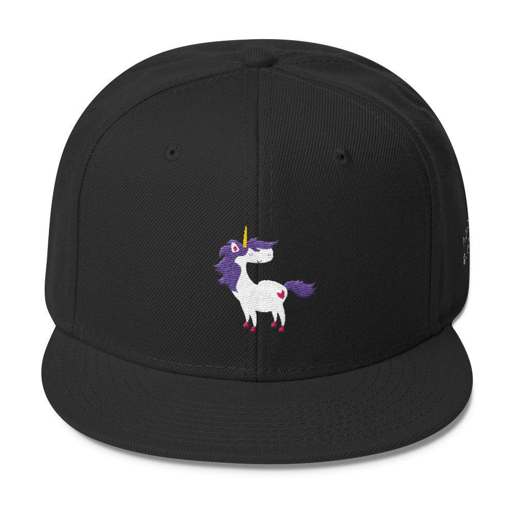 Little Queer Unicorn (Embroidered Wool Blend Snapback)