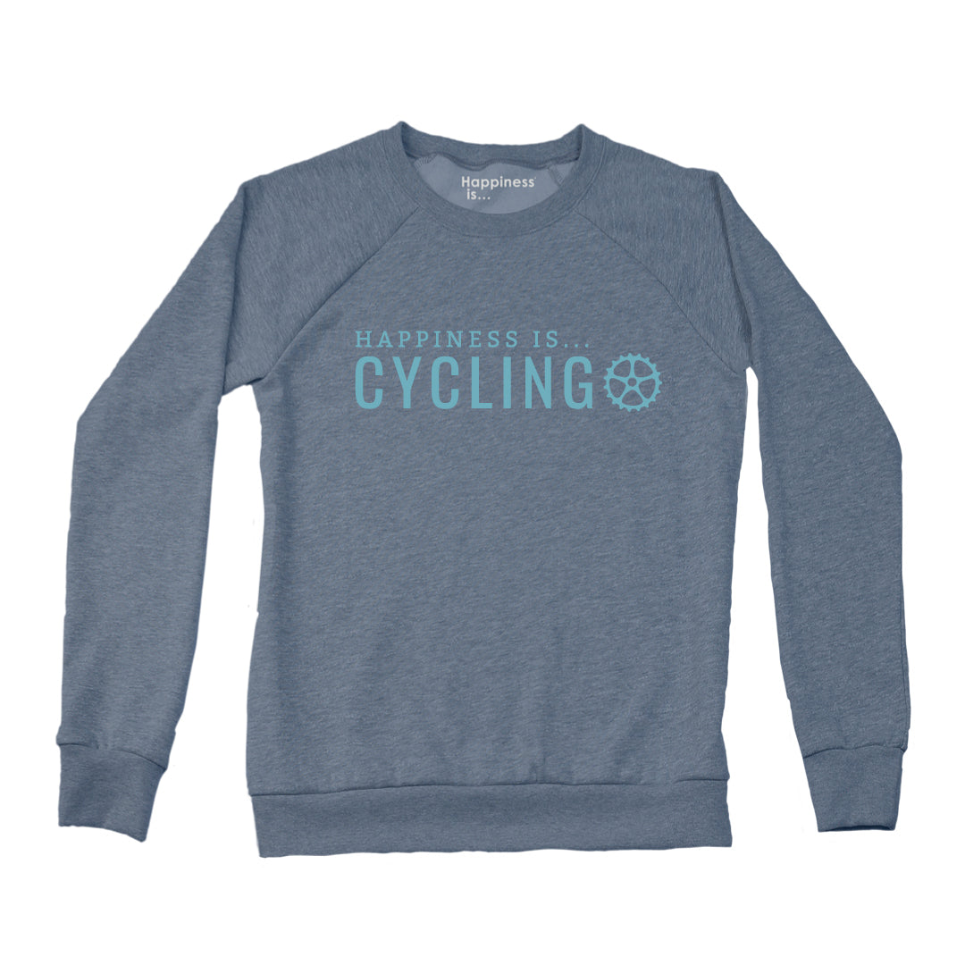 Women's Cycling Crew Sweatshirt, Heather Navy