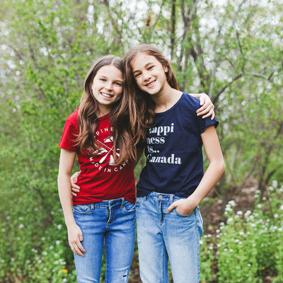 Youth Girls Happi T-Shirt, Navy