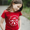 Youth Girls Crest T-Shirt, Canada Red