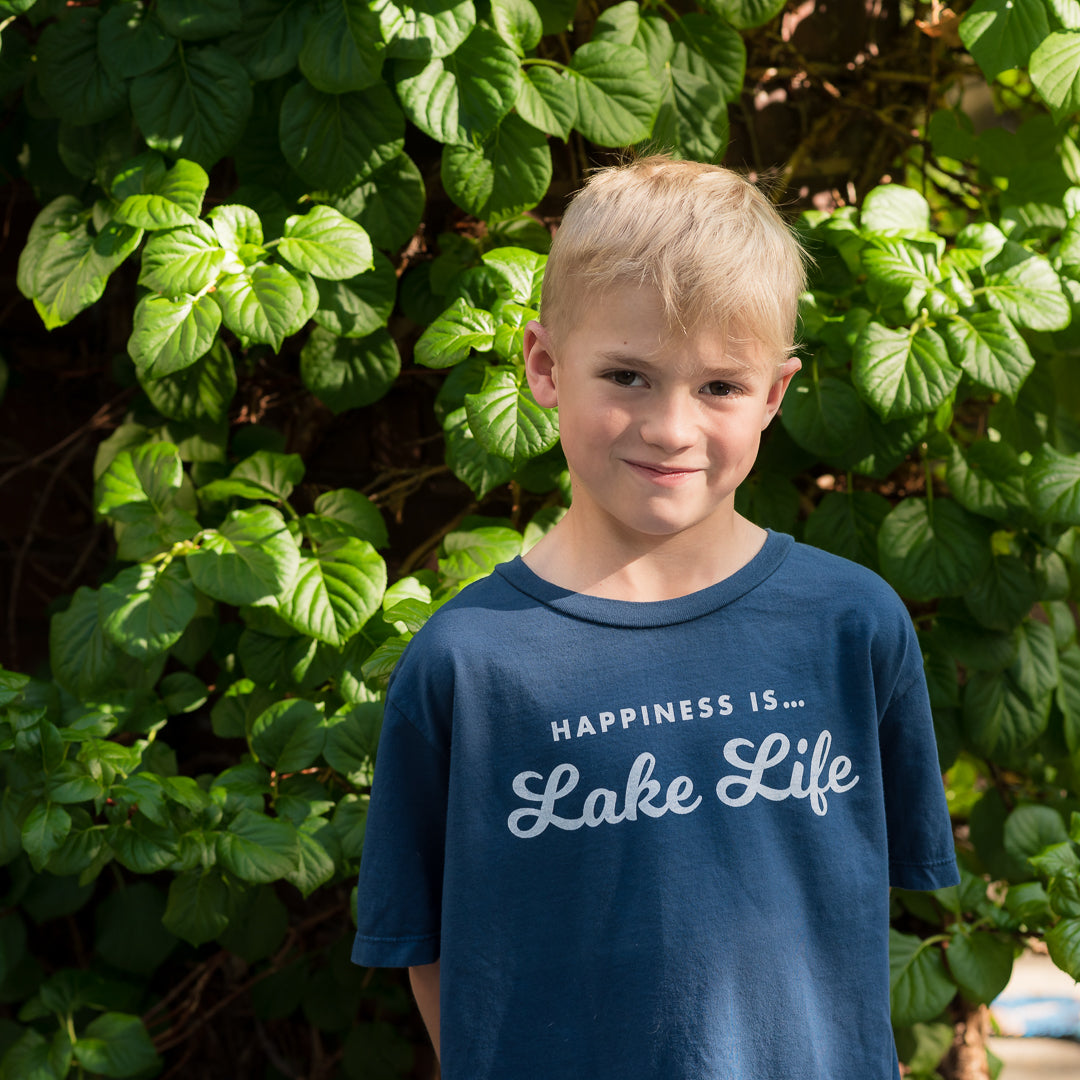 Youth Unisex Lake Life T-Shirt, Sea Blue
