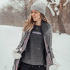 Women's Fresh Powder Crew Sweatshirt, Heather Charcoal