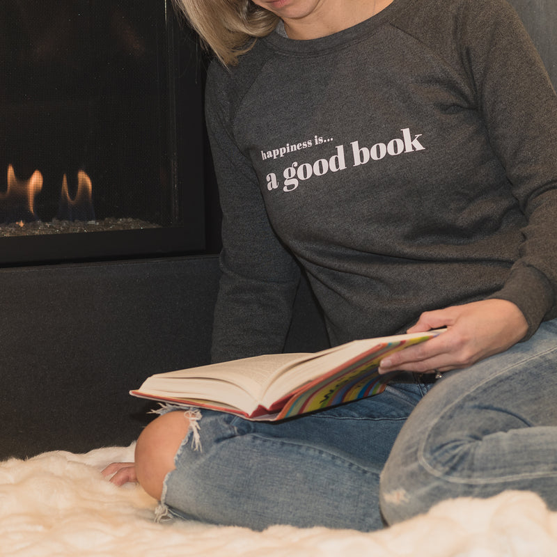 Women's Good Book Crew Sweatshirt, Charcoal