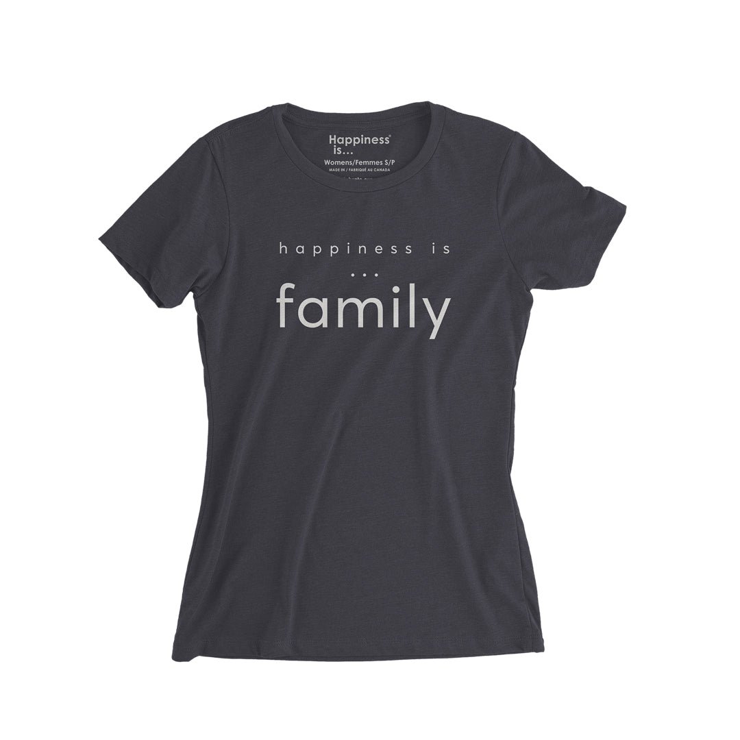 Women's Family T-Shirt, Vintage Black