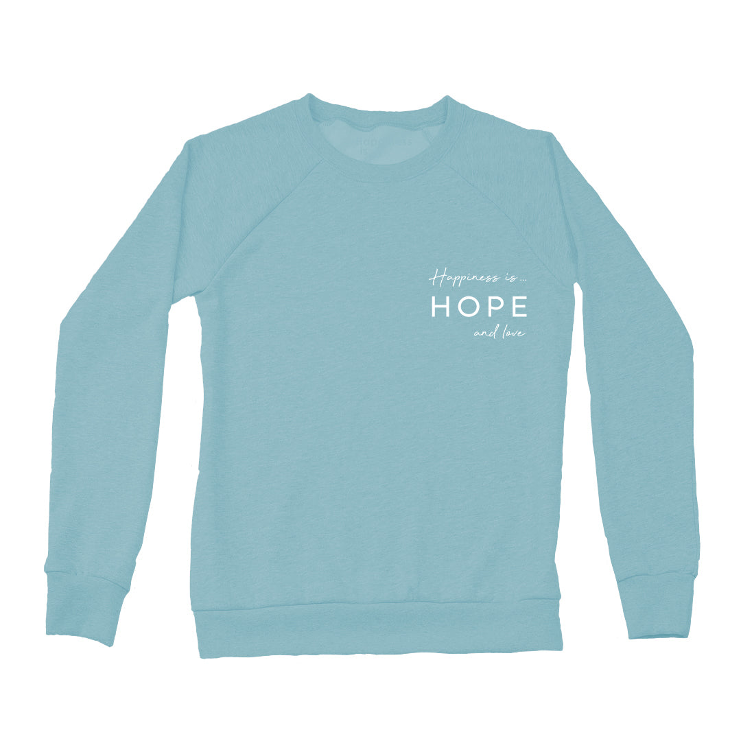 Women's Hope & Love Crew Sweatshirt, Teal