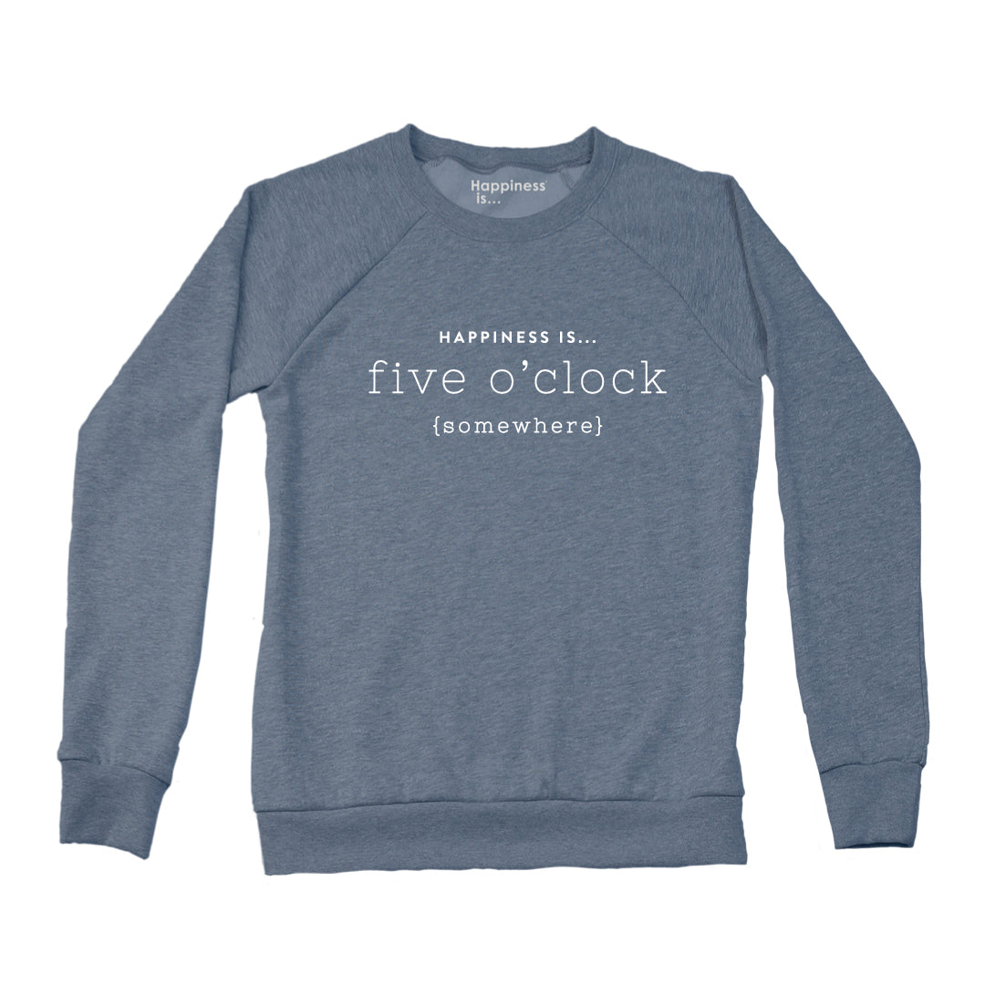 Women's Five O'Clock Crew Sweatshirt, Heather Navy
