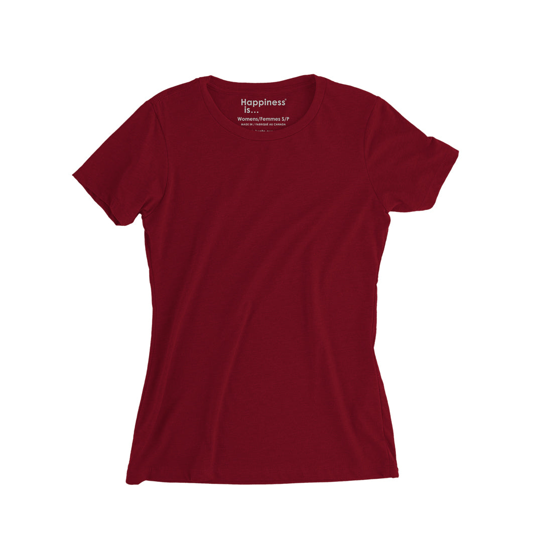 Women's Plain T-shirt, Red