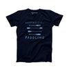Men's Paddling T-Shirt, Navy with Blue