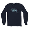 Men's Fishing Long Sleeve T, Navy