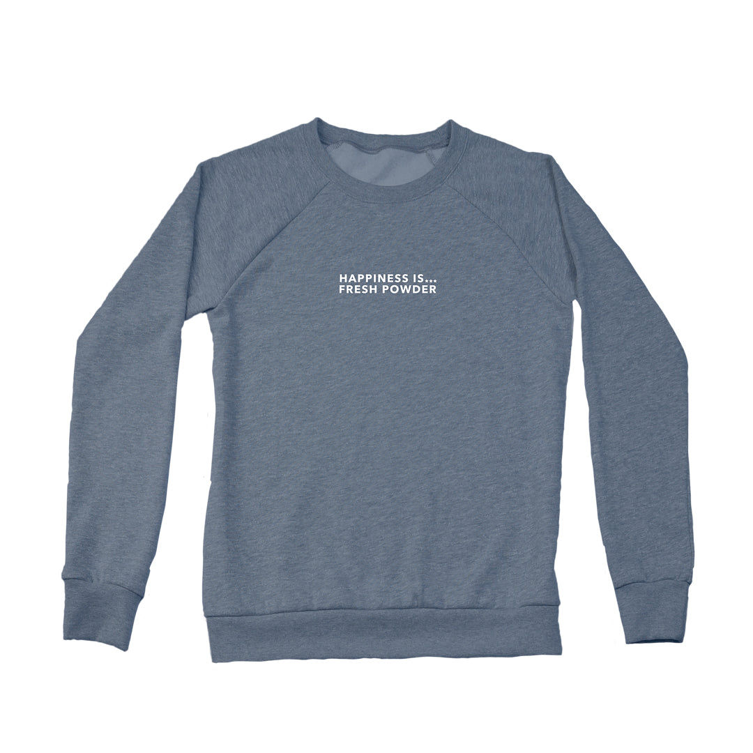 Women's Fresh Powder Crew Sweatshirt, Heather Navy