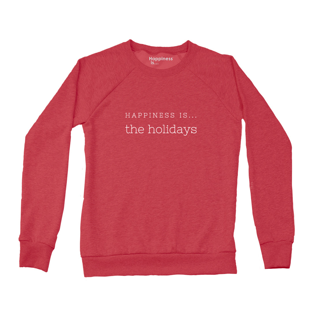 Women's Holiday Crew Sweatshirt, Chili
