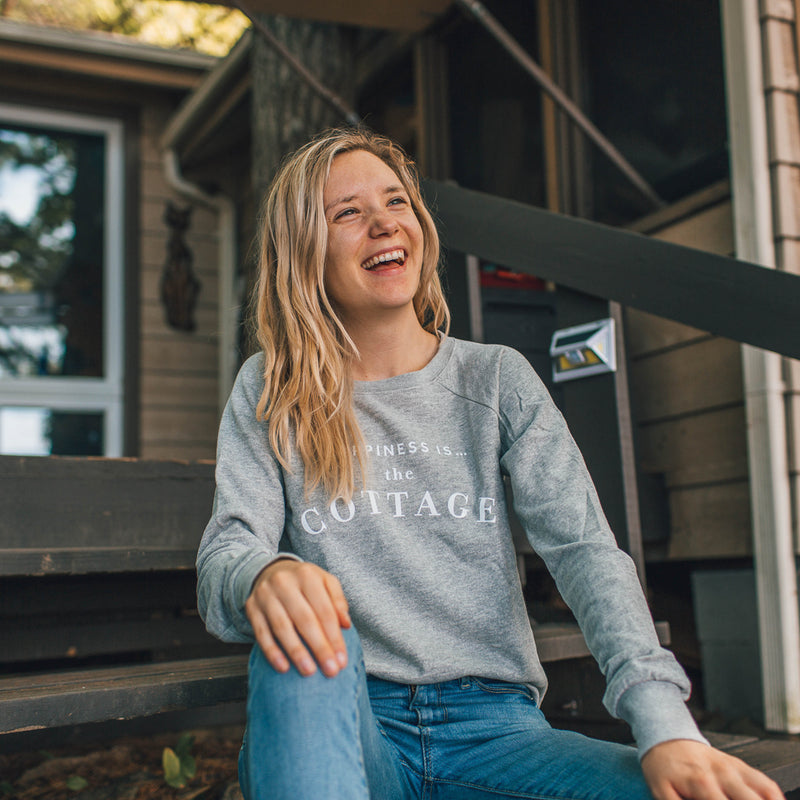 Women's Cottage Crew Sweatshirt, Heather Grey