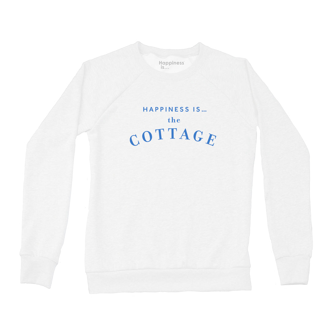Women's Cottage Crew Sweatshirt, White