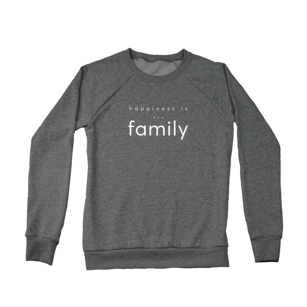 Women's Family Crew Sweatshirt, Charcoal