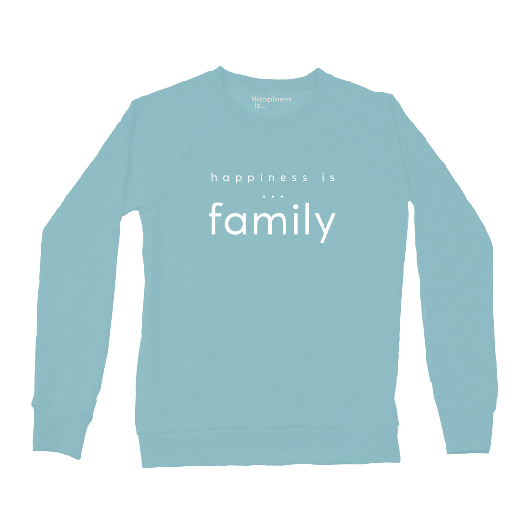 Women's Family Crew Sweatshirt, Teal
