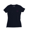 Women's Sailing T-Shirt, Navy with Pink