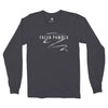 Men's Fresh Powder Long Sleeve T, Vintage Black