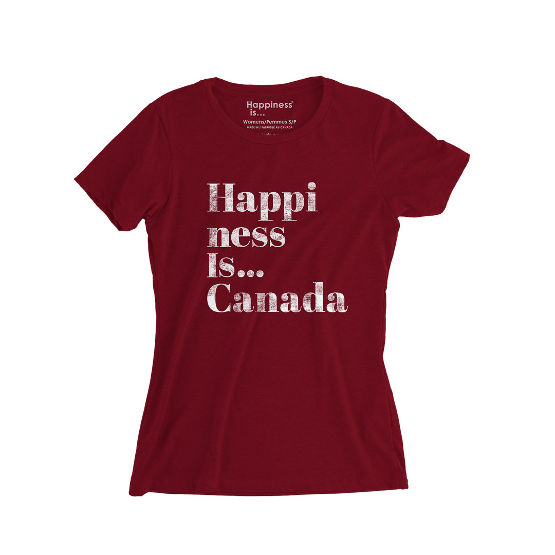 Women's Happi T-Shirt, Canada Red