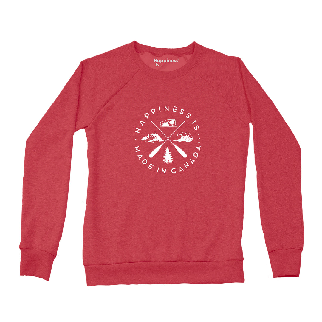 Women's Crest Crew Sweatshirt, Chili Pepper