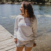 Women's Lake Life Crew Sweatshirt, White