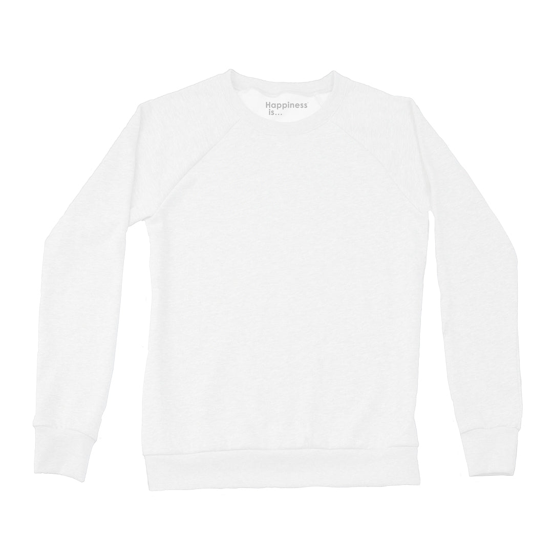 Women's Plain Crew Sweatshirt, White