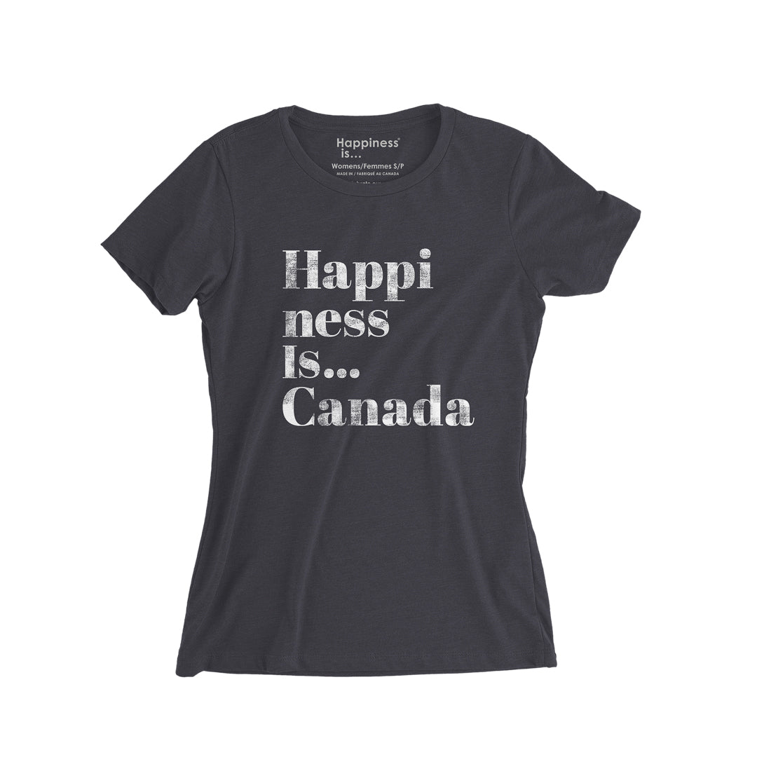 Women's Happi T-Shirt, Vintage Black