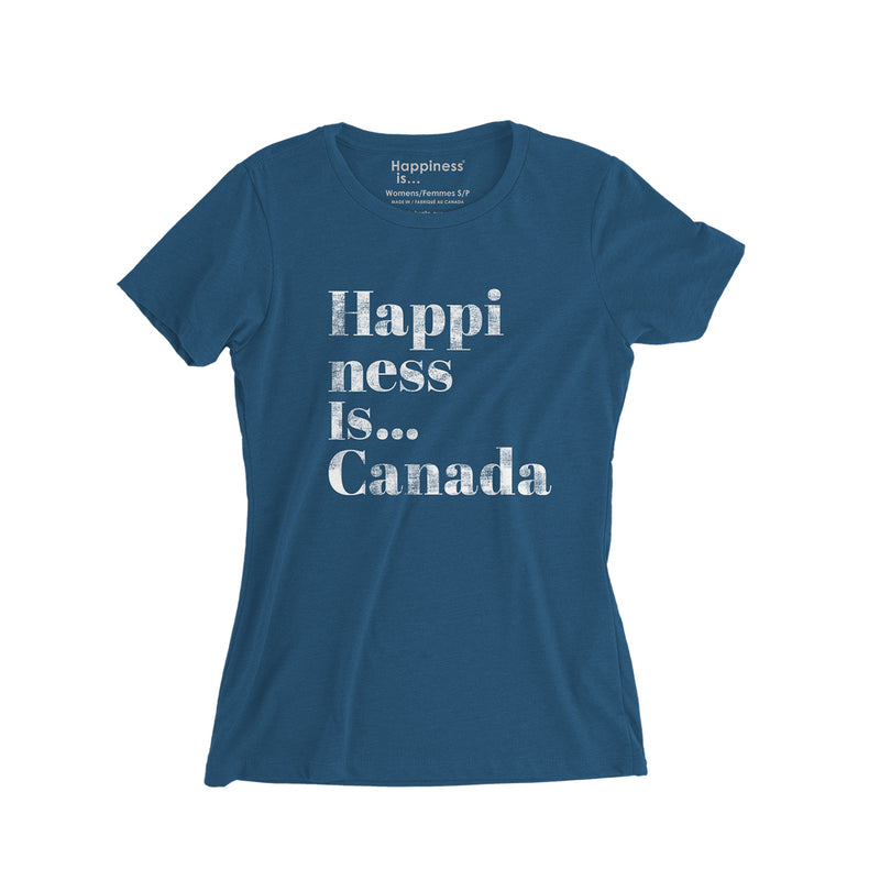 Women's Happi T-Shirt, Sea Blue