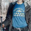 Men's Fresh Tracks T-Shirt, Sea Blue