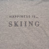 Women's Skiing Crew Sweatshirt, Heather Grey