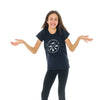 Youth Girl's Crest T-Shirt, Navy