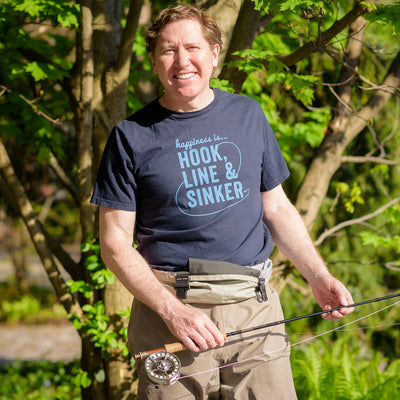 Men's Hook Line & Sinker T-shirt, Navy