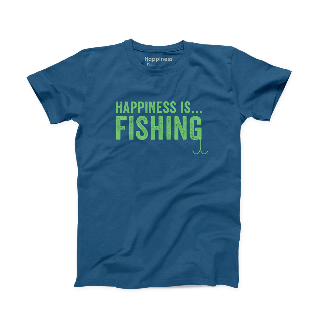 Men's Fishing T-Shirt, Sea Blue