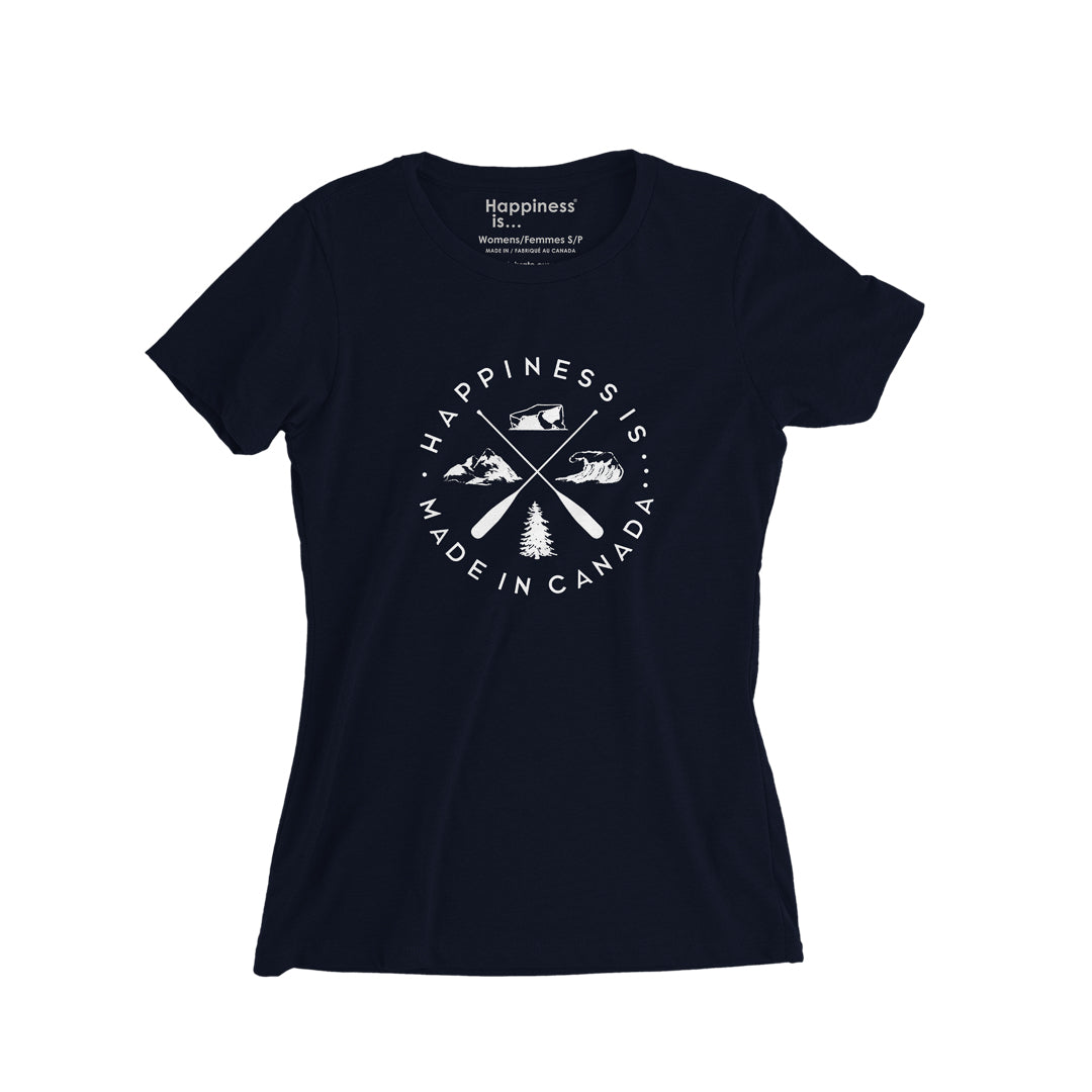 Women's Crest T-Shirt, Navy