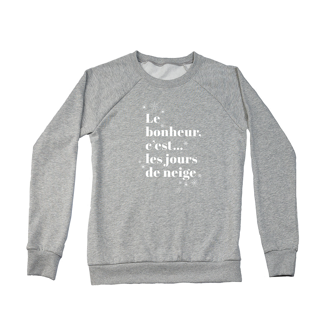 Women's Jours de Neige DISCONTINUED FIT Crew Sweatshirt, Heather Grey